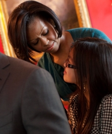 First Lady Michelle Obama at the kickoff of her campaign against obesity this week