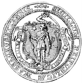 Vintage massachusetts seal
